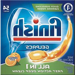 Finish All in 1 Gelpacs Orange, 54ct, Dishwasher Detergent T