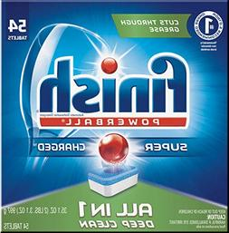 Finish All in 1 Powerball Fresh, 54ct, Dishwasher Detergent