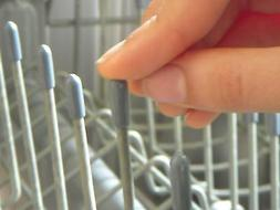 100 Universal Gray Dishwasher Rack Tip Tine Cover Caps  Just