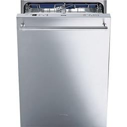 "Smeg 24"" Pre-Finished Dishwasher with Finger Print Proof S"