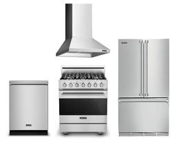 Viking Package with 36in Refrigerator, 30inDual Fuel Range,