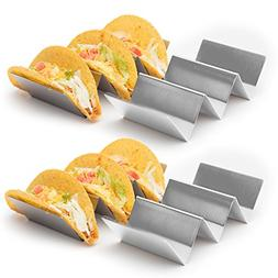 4 Pack - Stylish Stainless Steel Taco Holder Stand, Taco Tru