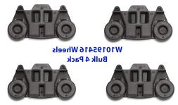 4 Pack W10195416 Whirlpool Dishwasher Wheel Assembly AP59837