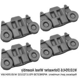 4x Dishwasher Wheel Assembly AP5983730 W10195416 PS11722152
