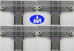 4X W10350376 Dishwasher Upper Rack Adjuster Kit For Kenmore