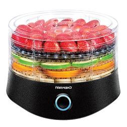 Chefman 5 Tray Round Food Dehydrator, BPA-Free Professional