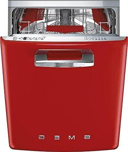 "Smeg 24"" 50s Retro Style Fully Integrated Dishwasher with 13"