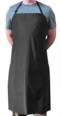 Tuff Apron Black Heavy Duty Waterproof with Neck Adjuster Du
