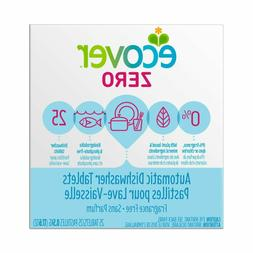 Ecover Automatic Dishwasher Soap Tablets, Zero , 25 Count
