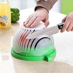 1 Step Kitchen Award Winning Salad Cutter Bowl - New Salad m