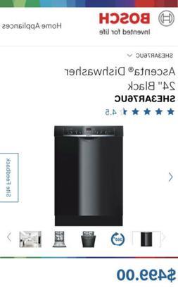 "BRAND NEW Bosch Ascenta Series 24"" 50dBA Black Dishwasher SH"