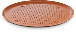"""Ceramic Coated Copper Pizza Pan 16"""" – Premium Nonstick, Ev"""