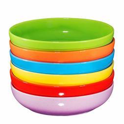 Bruntmor Ceramic Wide Bowls Plate Set Of 6 Dishwasher Safe M