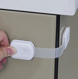 Child Safety Strap Locks  for Fridge, Cabinets, Drawers, Dis
