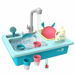 Color Changing Kitchen Sink Toy Heat Sensitive Dishwasher wi