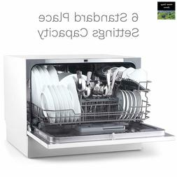 hOmeLabs Compact Countertop Dishwasher - Portable Mini Dish