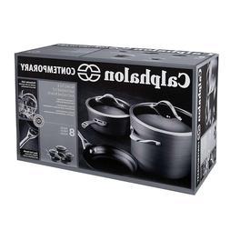 Contemporary Hard-Anodized Aluminum Nonstick Cookware Set