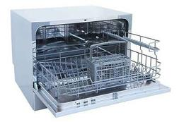 Sunpentown Countertop Dishwasher with Delay Start & LED - Wh