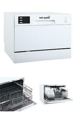 Countertop Portable Dishwasher in White with 6 Place Setting