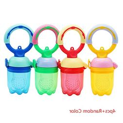 Sealive 4 pcs Cute Fresh Food Baby Feeders Baby Pacifier Sil