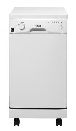 Danby DDW1801MWP 18In Portable Dishwasher, Holds 8 Place Set