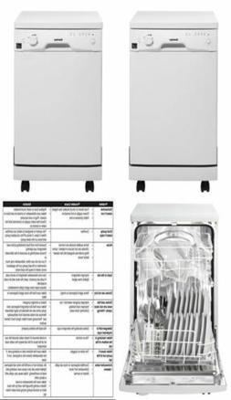 Danby DDW1801MWP Portable Dishwasher, White