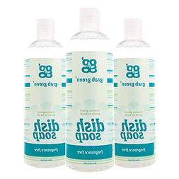 Grab Green Naturally-Derived, Biodegradable Liquid Dish Soap