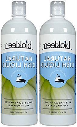 Biokleen Dishwash Liquid - 32 oz - Fragrance Free - 2 pk