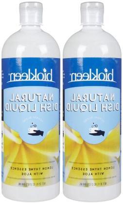 Biokleen Dishwash Liquid - 32 oz - Lemon-Thyme - 2 pk