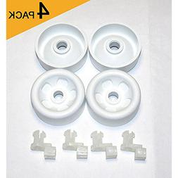 Dishwasher Lower Front Rack Roller Axle Kit 4pk Dishrack GE