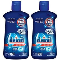 Finish Jet Dry Dishwasher Rinse Aid 16 oz  Pack of 2