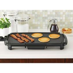 """Mainstays Dishwasher-Safe 20"""" Black Griddle with Adjustable"""