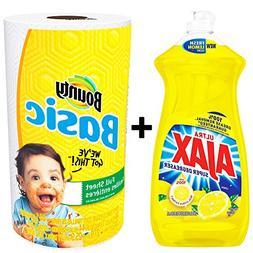 Ajax Dishwashing Liquid Dish Soap 28 Ounce - Lemon, Super De