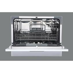 Sunbeam DWSB3602GSS Compact Countertop Dishwasher with Six D