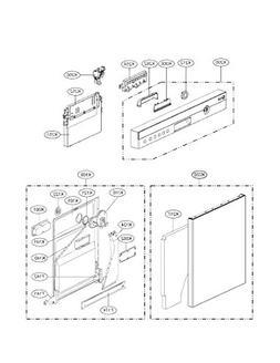 Lg EBR69906302 Dishwasher Control Board Genuine Original Equ