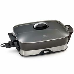 Electric Foldaway Skillet Non-Stick Heavy Cast Aluminum 16-I