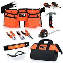 My First Tool Set by DIYjr – Real Tool Set for Kids Steel