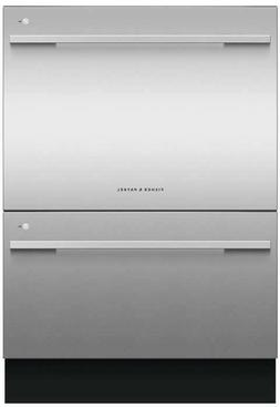 FISHER AND PAYKEL STAINLESS DOUBLE DRAWER DISHWASHER NEW