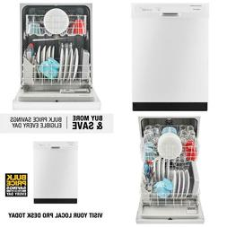 Front Control Built-In Tall Tub Dishwasher In White With Tri