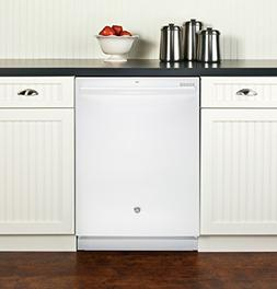 """GE GDT545PGJWW 24"""" Energy Star Built In Dishwasher with 16 P"""