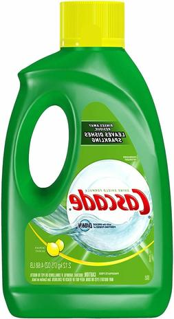 Cascade Gel Dishwasher Detergent, Lemon Scent, 75-Ounce