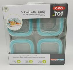 OXO Tot Glass Baby Blocks Freezer Storage Containers - 4 oz