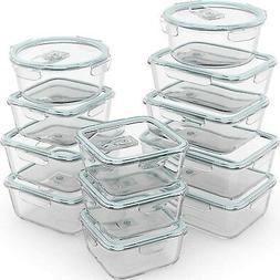 Razab 24 Piece Glass Food Storage Containers w/Airtight Lids