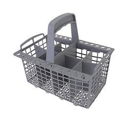 Qualtex Grey Dishwasher Cutlery Silverware Basket For Kenmor