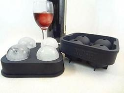 Ice Ball Maker Novelty Food Grade Silicone Mold Tray With 4X