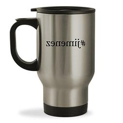 #jimenez - 14oz Hashtag Sturdy Stainless Steel Travel Mug, S