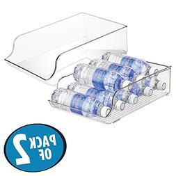 mDesign Wide Plastic Kitchen Water Bottle Storage Organizer