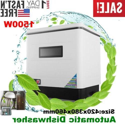 1500w countertop automatic dishwasher portable dish washer