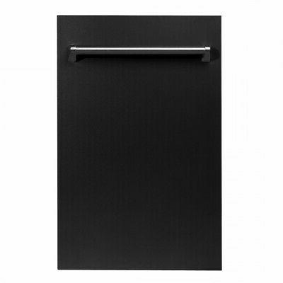 18 zline top control dishwasher black matte