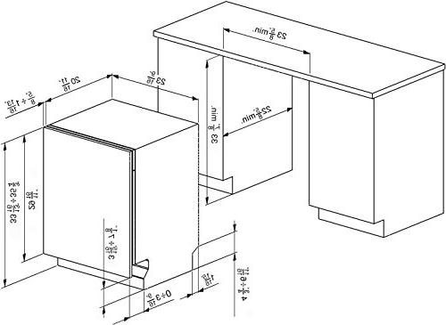 Smeg Integrated Dishwasher Door, 13 5 Wash
